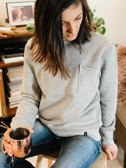 Adult Basic Sweatshirt - Mix Grey