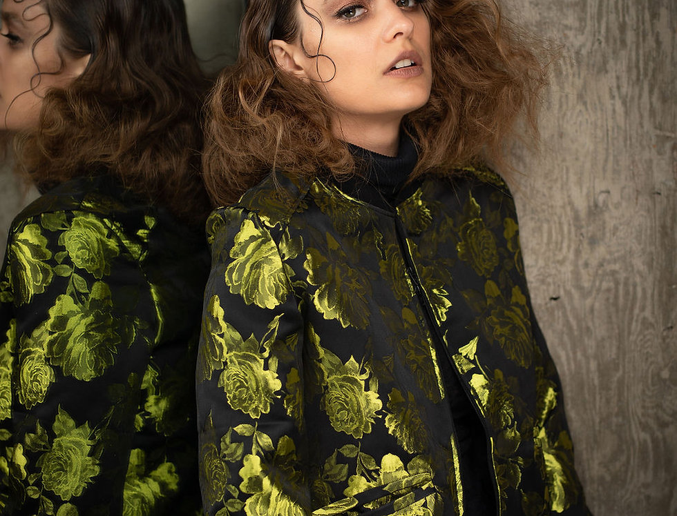 Chartreuse Rose Bomber