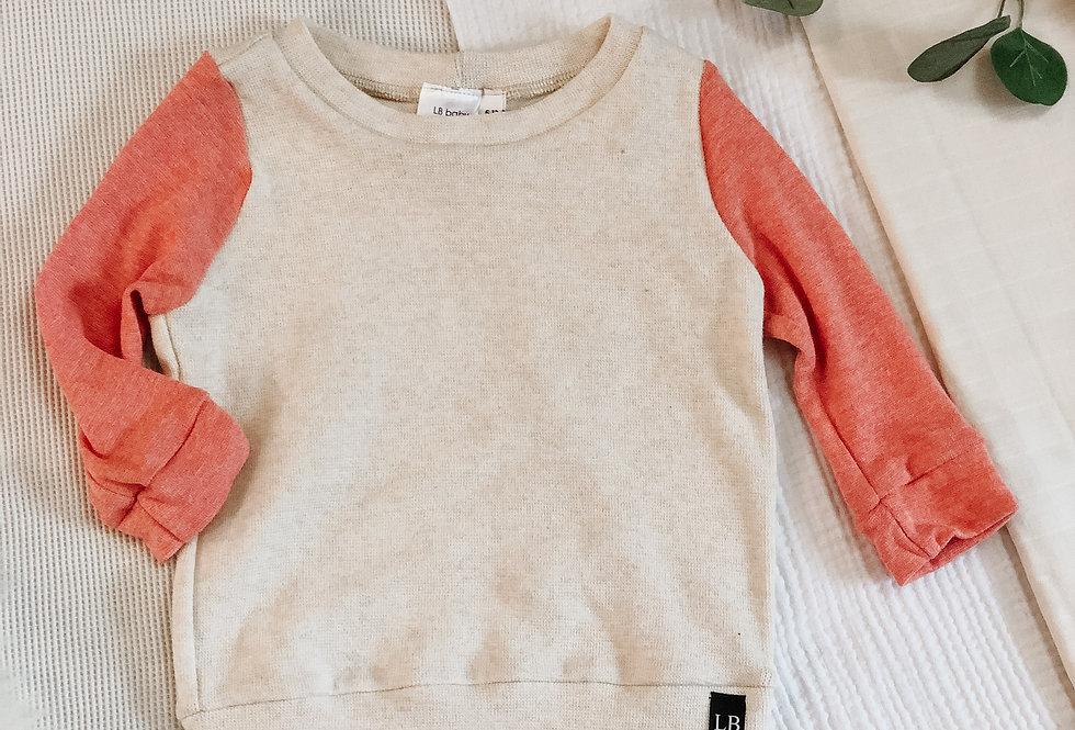Contrast Sleeves Sweatshirt