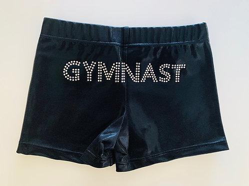 GWA - Black Gymnast Jewel Bike Pants