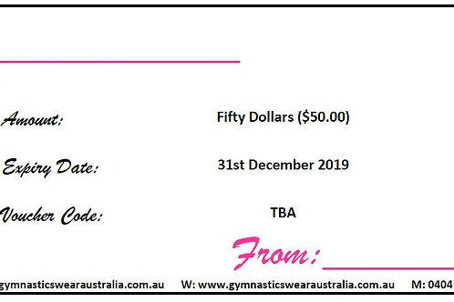 GWA - Gift Voucher $50.00
