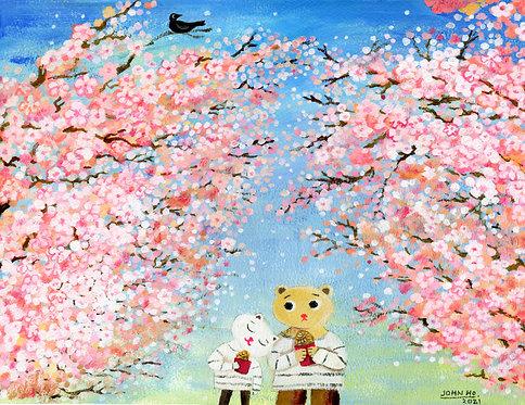 John Ho, 櫻花樹下 Under the sakura