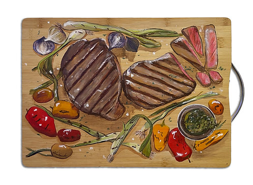 Blessy Man - Beef Steak on the Chopping Board #1