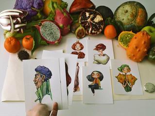 Marija Tiurina 可愛蔬果人物插畫