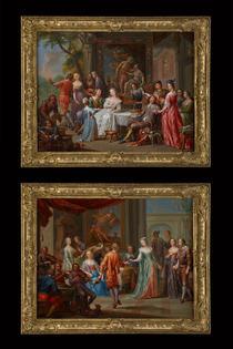 Barockes Gemäldepaar