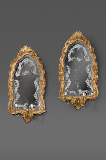 Ein Paar vorzüglich erhaltener Spiegelappliken