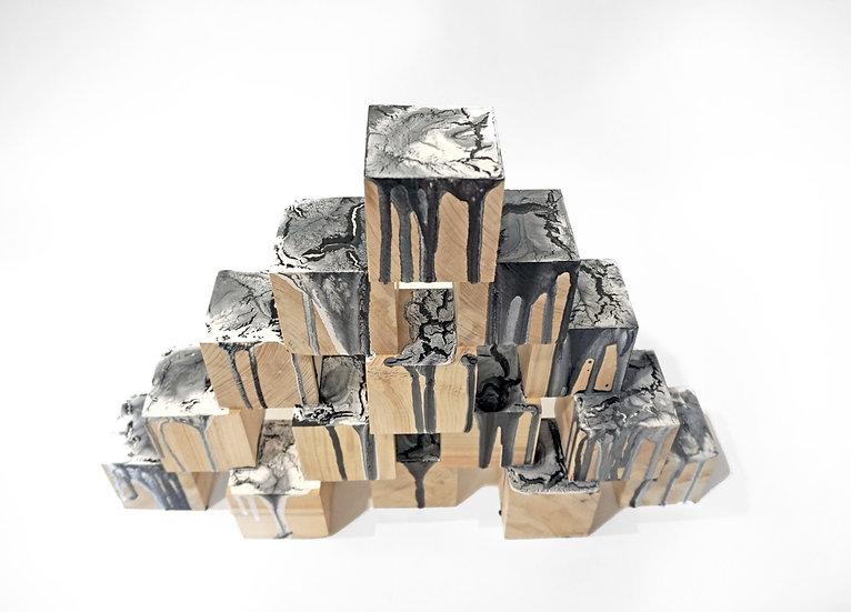 Un-block wooden sculpture