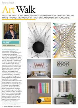 ARtist feature at Better Interiors Magazine