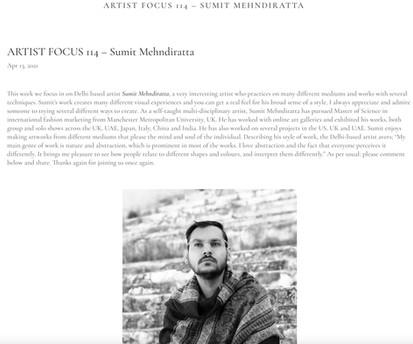 Artist feature at Joshua Vanl eader