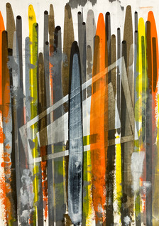 Composition No. 261 16.5x23 inches aacry