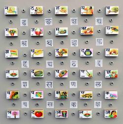 Alphabets on a matchbox