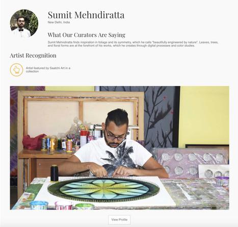 Feature on Saatchi Art