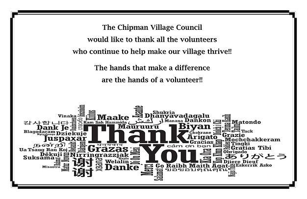 Volunteer Appreciation For FB & Website.