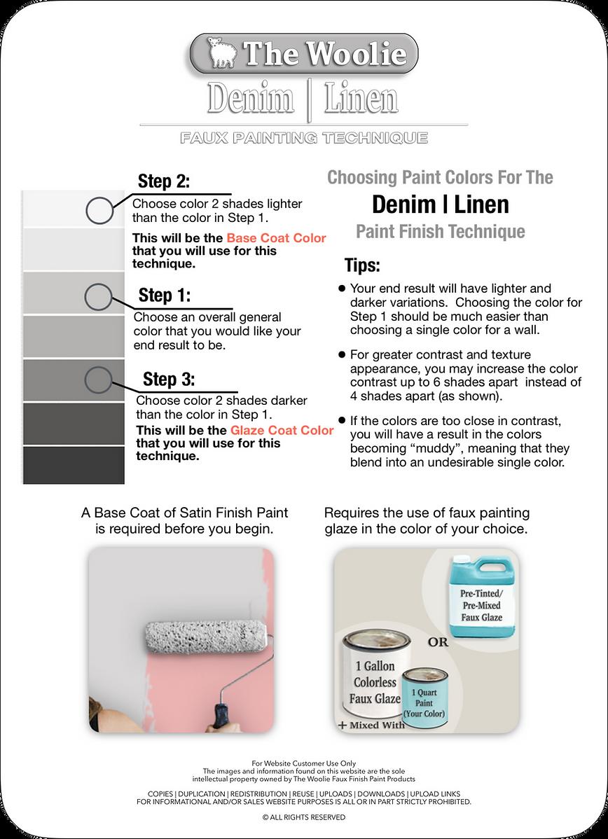 Denim | Linen | How To Choose Paint Colo