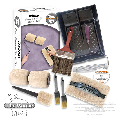 The Woolie (DELUXE) Natural Sheepskin Faux Painting (Beginner Starter Kit)