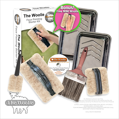 The Woolie Natural Sheepskin Faux Painting Technique (Beginner-Starter-Kit)