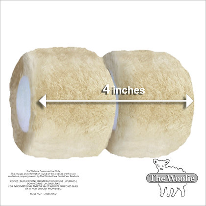 The Woolie Mini-Size 4 Inch Natural Sheepskin 2-Color Paint Roller Technique (Si