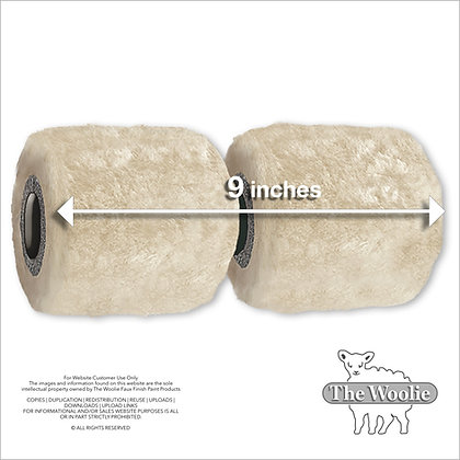 The Woolie Full-Size Natural Sheepskin 2-Color Paint Roller (Single Item)