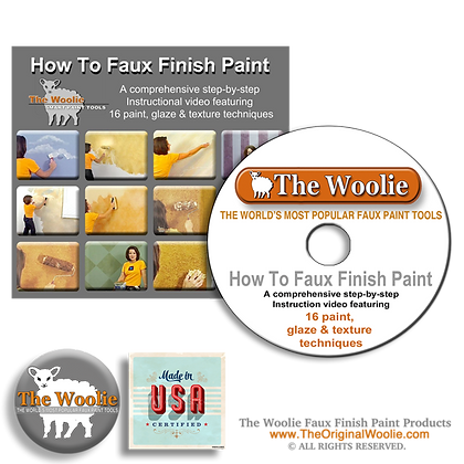 The Woolie Faux Painting Technique Instruction Video DVD