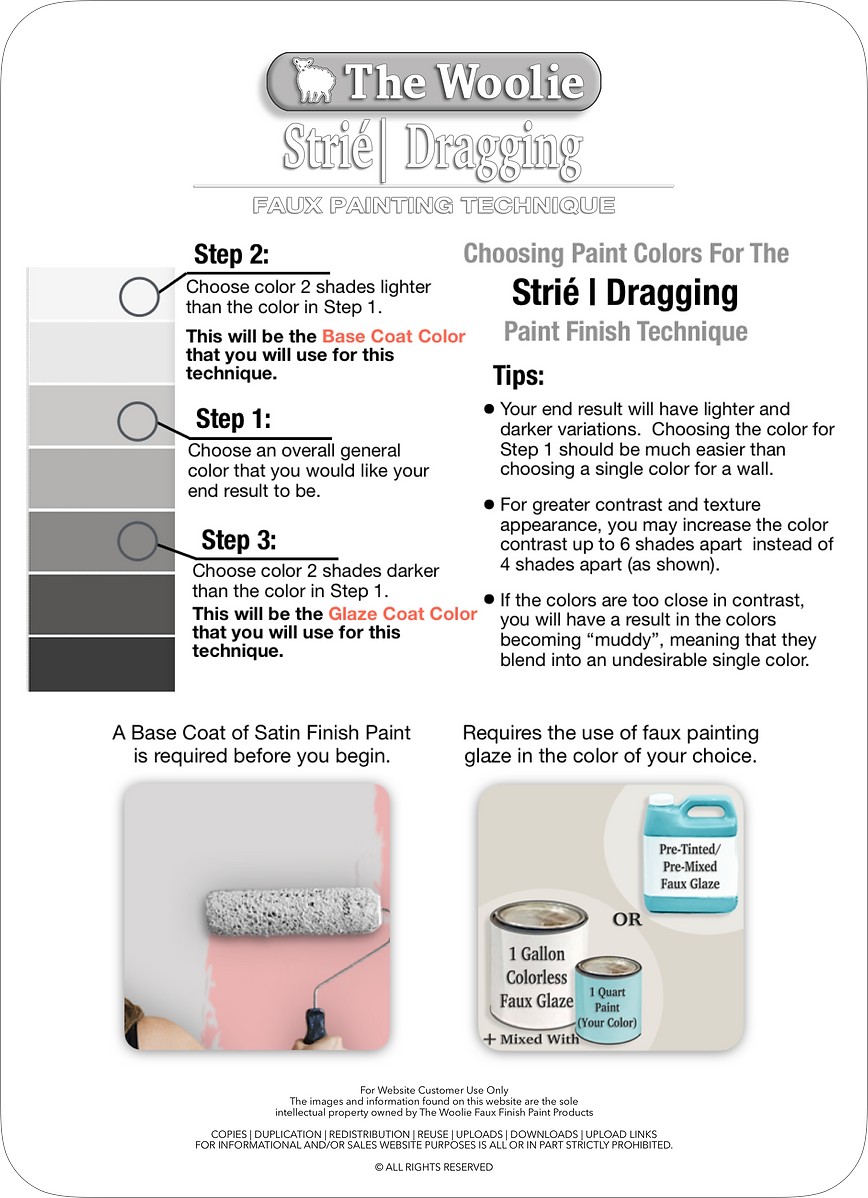 Strie | Dragging | How To Choose Paint C