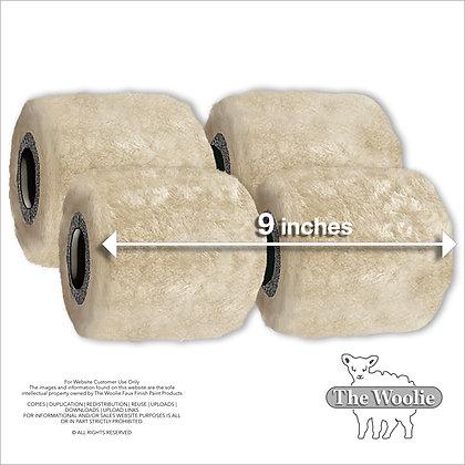 The Woolie Full-Size Natural Sheepskin 2-Color Paint Roller  (Value 2-Pack)