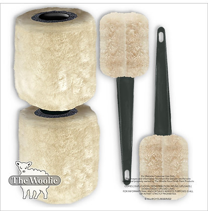 The Woolie Natural-Sheepskin 2-Color-Paint-Roller (Combo-Set)