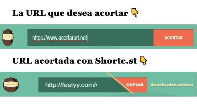 Crear cuenta y acortar URL con Shorte.st