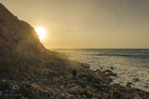 Seixalinho Beach, Sesimbra, Arrábida Natural Park, District of Setúbal, Portugal.