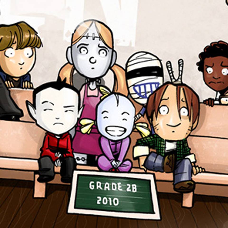 Monster Elementary Class Photo