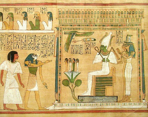 Papyrus Depicting  Isis & Osiris