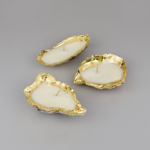 Oyster Shell Gold Candle Gift Set