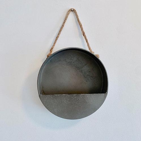 Round Metal Wall Planter - Medium