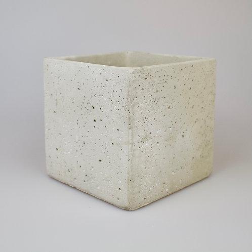 Square concrete plant pots 14cm/18cm