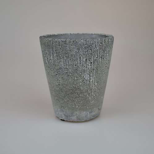 Tall grey plant pot 11cm/17cm
