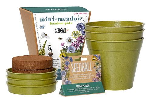 Mini Meadow Bamboo Pots- 2 options