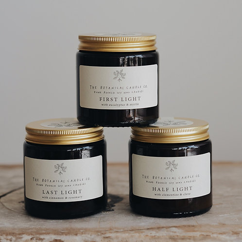 Winter Light Candle Range by The Botanical Candle Co.