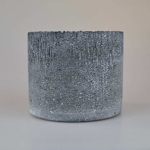Round concrete plant pot 10.5cm