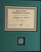 President's Award for USAGSO-Singapore!