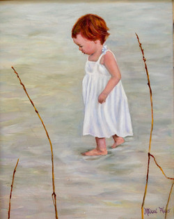 Ginger Baby on Beach