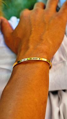 Customized Golden Bracelet