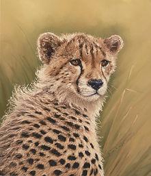 Cheetah Cub pastel Painting