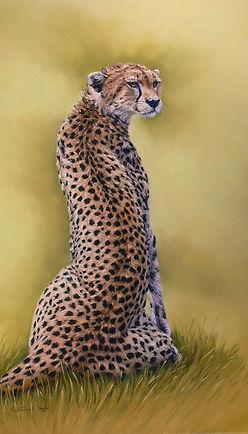 Cheetah in pastel