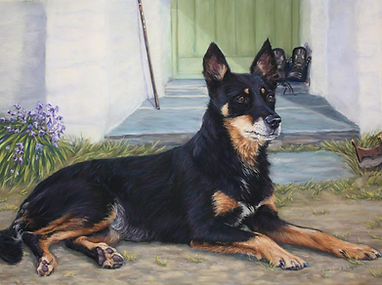 Meg Collie Dog in Pastel