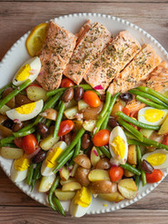 Poached Salmon Salad Nicoise