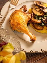 Crispy Brased Duck Legs & Oven Polenta