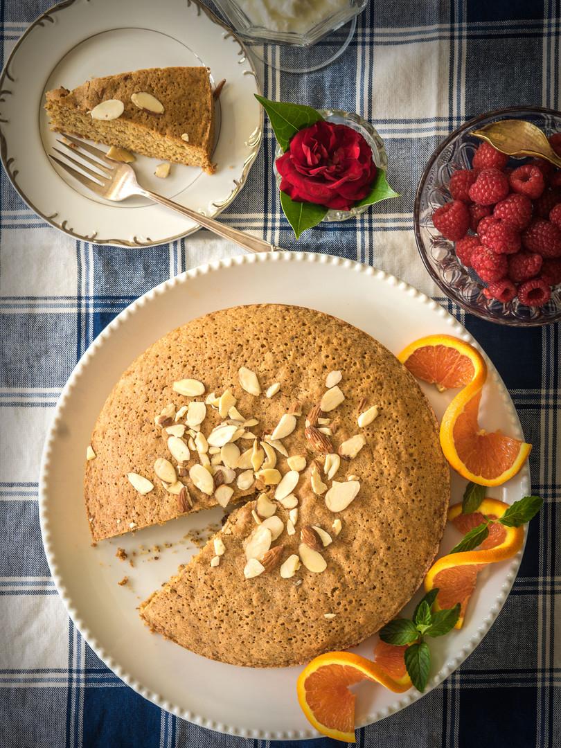 Orange Almond Olive Cake