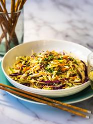 Asian Chicken Salad Bean Thread Noodles & Cabbage