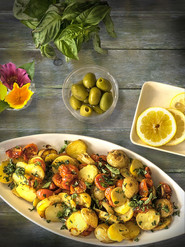 Roasted Potatoes with Tomatoes and Capers