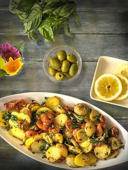 Potatoes & Tomatoes Salad