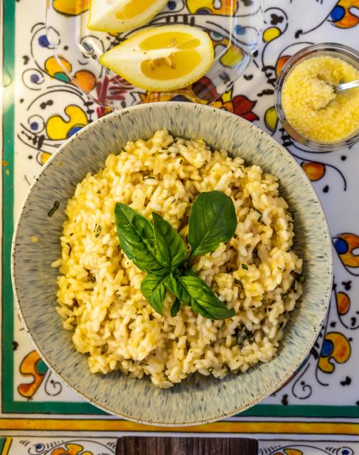 Lemon Basil Rissoto